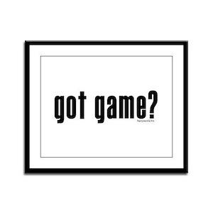 got game? Framed Panel Print