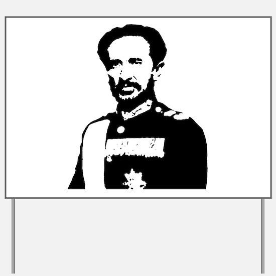 Haile Selassie Yard Sign