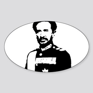 Haile Selassie Oval Sticker