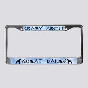 Crazy About Great Danes License Plate Frame