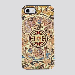 gold kimono chinese dragon iPhone 8/7 Tough Case