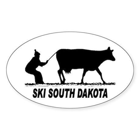 Ski South Dakota Oval Sticker (50 pk)