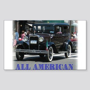 All American Rectangle Sticker