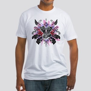 Panhead Flower Rose Red Fitted T-Shirt