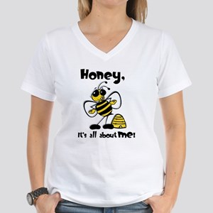 All About Me Bee Women's V-Neck T-Shirt