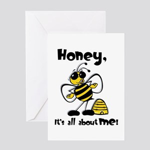 All About Me Bee Greeting Card