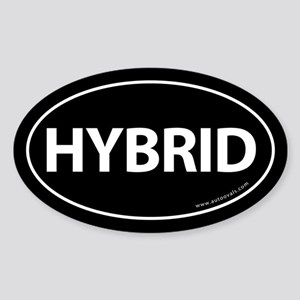 Hybrid Bumper Sticker Traditional Black (Oval)