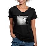 Paging Bob Avellini Women's V-Neck Dark T-Shirt