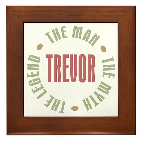 Trevor Man Myth Legend Framed Tile