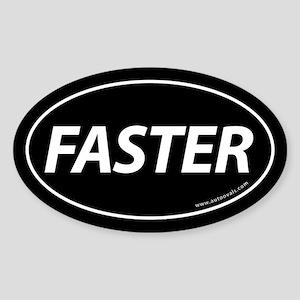Faster Auto Bumper Oval Sticker -Black