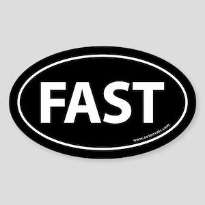 Fast Auto Bumper Oval Sticker -Black