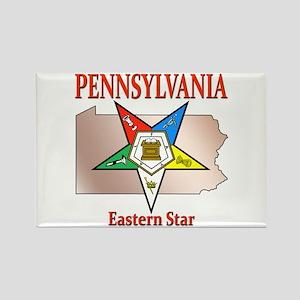 Pennsylvania Eastern Star Rectangle Magnet