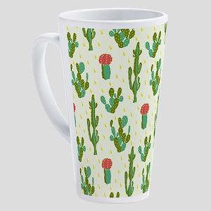 Cactus Pattern 17 oz Latte Mug