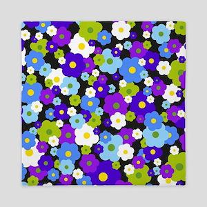 Purple Daisy Flower Queen Duvet