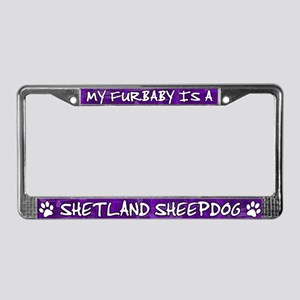 Furbaby Shetland Sheepdog License Plate Frame