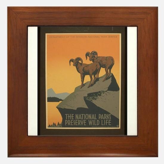 The National Parks Preserve W Framed Tile