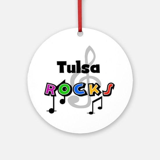 Tulsa Rocks Ornament (Round)