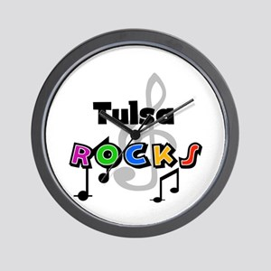 Tulsa Rocks Wall Clock