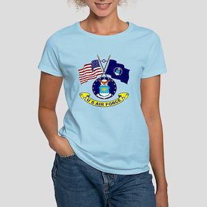 USAF-USA Flags Women's Light T-Shirt