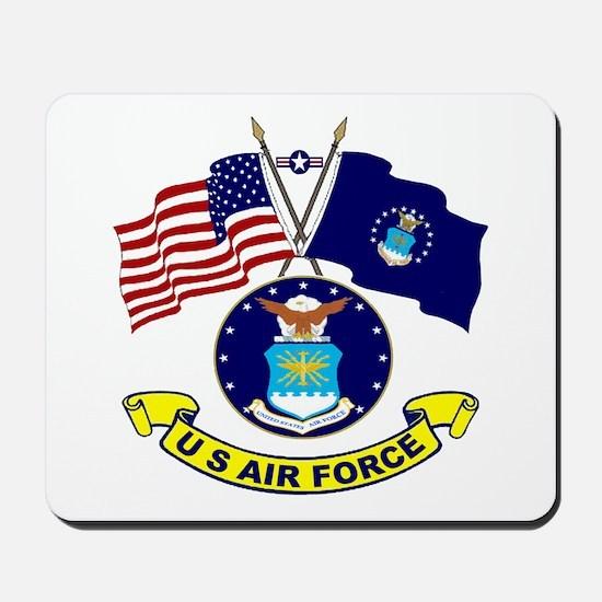USAF-USA Flags Mousepad