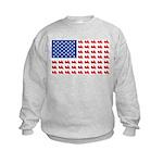 Goldwing Motorcycle Flag Tee Kids Sweatshirt