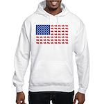 Goldwing Motorcycle Flag Tee Hooded Sweatshirt