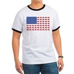 Goldwing Motorcycle Flag Tee Ringer T