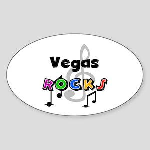 Vegas Rocks Oval Sticker