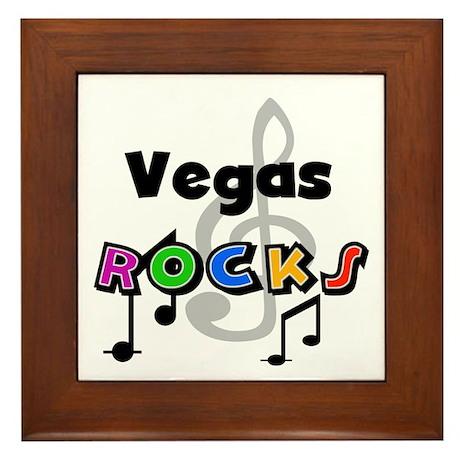 Vegas Rocks Framed Tile