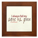 save v pun Framed Tile