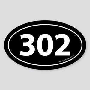 302 Auto Bumper Oval Sticker -Black