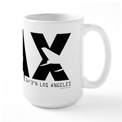 Los Angeles LAX Airport Code Black Des. Large Mug