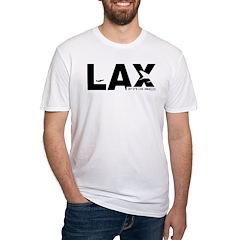 Los Angeles LAX Airport Code Black Shirt