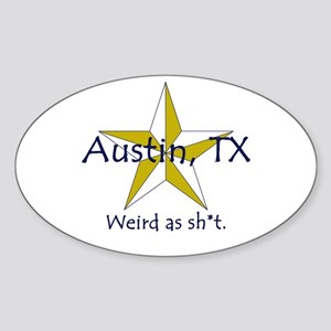 Austin is Weird Oval Sticker