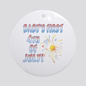 BABY'S FIRST 4th OF JULY! Ornament (Round)