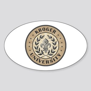 Kroger Last Name University Oval Sticker