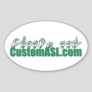 SAMPLE Item Sticker (Oval)