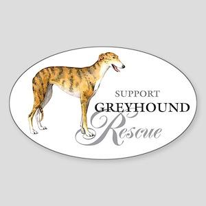 Greyhound Rescue Oval Sticker