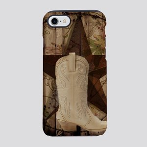 cowboy boots western country iPhone 8/7 Tough Case