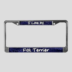 Funky Love Fox Terrier License Plate Frame