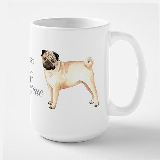 Pug Rescue Large Mug