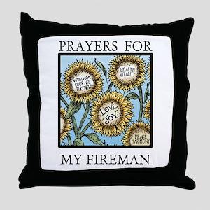 MY FIREMAN Throw Pillow