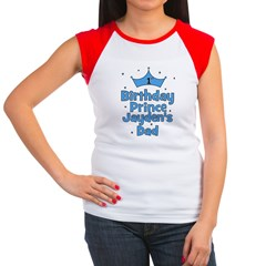 1st Birthday Prince Jayden's Women's Cap Sleeve T-