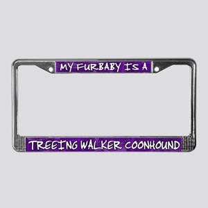 Furbaby Treeing Wlkr Coonhound License Plate Frame