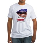 FlagMouth 'FREEDOM' [remix 2] Fitted T-Shirt