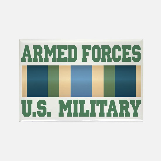 US Military Service Ribbon Rectangle Magnet