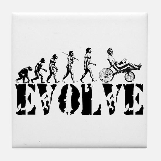 Recumbent Bicycle Tile Coaster