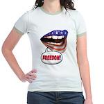 FlagMouth: FREEDOM Jr. Ringer T-Shirt