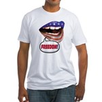FlagMouth: FREEDOM Fitted T-Shirt