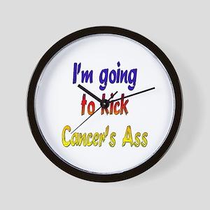 Kick Cancer's Ass ver2 Wall Clock